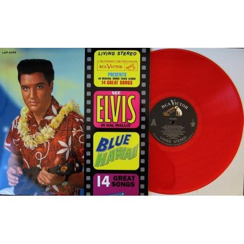 "Presley "" Blue Hawaii "" REMASTERED 180 Gram RED Vinyl Record Album LP"