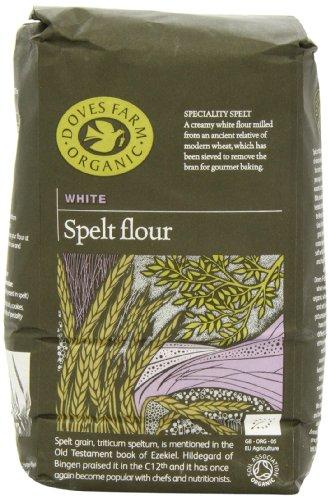 Doves Farm Organic Speciality White Spelt Flour 1 kg (Pack of 5)