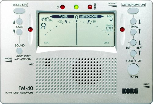 Korg TM-40 Large Display Digital Tuner and Metronome