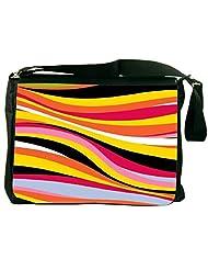 Snoogg Colorful Waves 2771 Laptop Messenger Bag