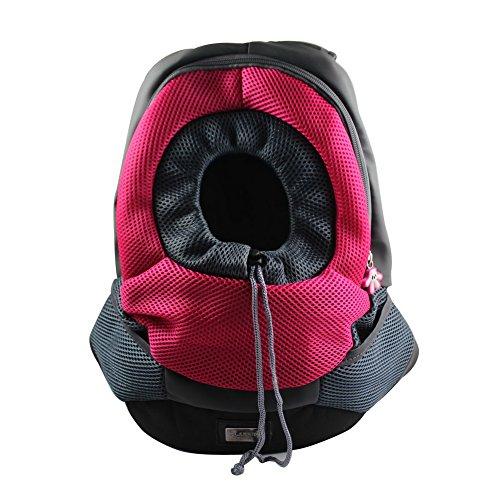 OurWarm Fuchsia Portable Carrier Pet Cat Carrier Cat Travel Bag Rabbit Dog Backpack Medium Size