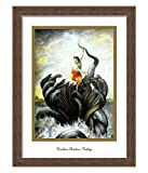 Elegant Arts & Frames Krishna Chastises Kaliya Multicolour Print 14 x 19 Photo Frame