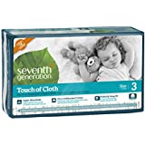 Seventh Generation Touch of Cloth Diapers, Size 3, 140 Count