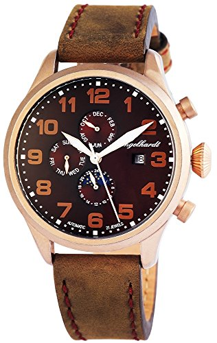 Engelhardt Men's Watch XL Analogue Automatic Leather 389537029002