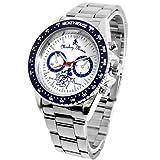 Disney ディズニー レトロミッキー 回転ベゼル腕時計 ホワイト×ブルー クロノグラフモデル 白 青【並行輸入品】[時計]