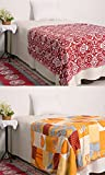 RajasthaniKart Combo Reversible AC Blanket/Quilt/Rajai/Top Sheet/Dohar (Single Bed, Set of 2)