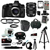 Olympus OM-D E-M1 16MP Compact System Camera (Body) with M.Zuiko Digital ED 12-40mm f 2.8 Pro Interchangeable Lens + 64GB SD Card + Tiffen 62mm UV Protector and Circular Polarizer Filters + Replacement BLN-1 Battery and Charger + Accessory Kit