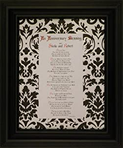 An Anniversary Blessing - Framed Christian Prayer (Personalization Available)