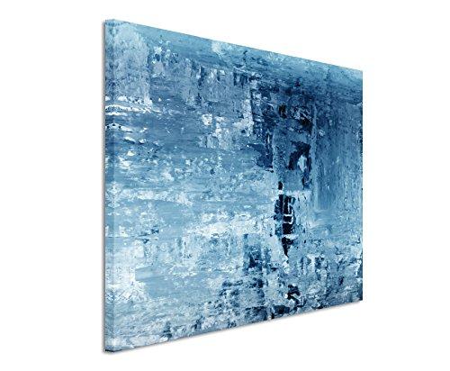 120x80cm wandbild farbe blau petrol leinwandbild auf - Wandbild petrol ...