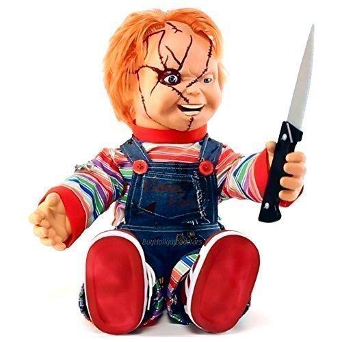 "Bride of Chucky Memorabilia: 2015 24"" Animated Talking Chucky Doll (26)"