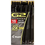 Pilot - G2 Gel Roller Ball, Retractable, Fine, Black - 16 Pens