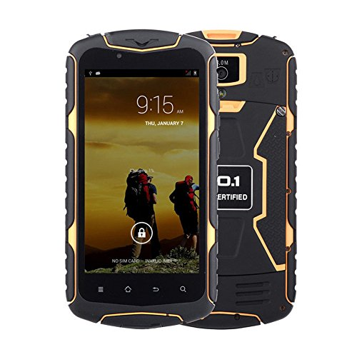 NO.1 X1 5.0 inch Android 4.4 3G Smartphone Unlocked MTK6582 1.3GHz Quad Core Cell Phone B Waterproof Dustproof Shockproof 1GB RAM 8GB ROM Dual SIM Orange (No 1 Phone compare prices)