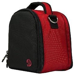 VanGoddy Laurel DSLR Camera Carrying Handbag for Nikon Coolpix P990 / P610 / P900 / P530 / P600 / P7800 / P520 / P510 / P500 / P100 / P90 / P80 Digital SLR Cameras Digital SLR Cameras (Red)