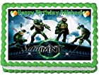 Teenage Mutant Ninja Turtles #1 Edible Frosting Sheet Cake Topper - 1/4 Sheet