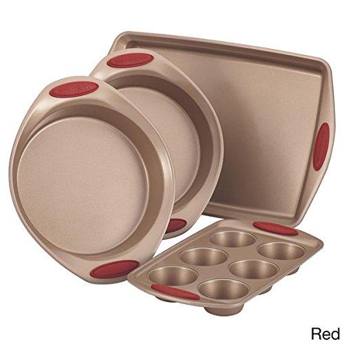 Rachael Ray Bakeware Set Cucina Nonstick 4-Piece Cookie Sheet Cake Muffin Pans ;PO#44T-KH/435 H25W3382797