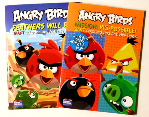 Angry Birds Giant Coloring and Activity Books (2 Book Set) - 96 Pages Each - 1