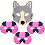 4 Foam Childrens Masks 3 Three Little...