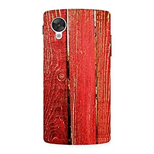 Red Texture Wood Back Case Cover for Google Nexsus 5