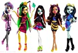 Monster High Scaris City of Fright Complete Set of 5 Fashion Dolls Skelita Calaveras Jinafire Long