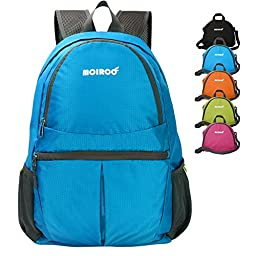 Waterproof Backback, MCIRCO 20L Super Lightweight Water Repellent Backpack Foldable to a Single Shoulder Bag for Hiking, Biking, Climbing and Other Outdoor Activities (Blue)
