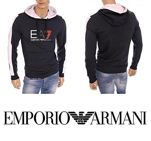 FELPA UOMO EMPORIO ARMANI ART 274655 6P640 91136 COLORE BLU MISURA A SCELTA (XL, BLU)