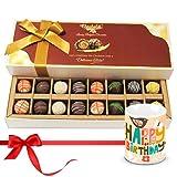 Chocholik Luxury Chocolates - Divine Treat Of Assorted Truffles With Birthday Mug