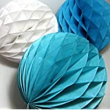 My Party Suppliers Paper Honeycomb Party Decoration Ball - Blue 3 Pcs