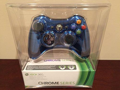 Microsoft Xbox 360 Special Edition Chrome Series Wireless Controller - Blue (Xbox 360 Controller Blue Chrome compare prices)