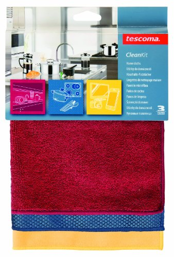 Tescoma 900670 Clean Kit Panni in Microfibra, 35x35 cm, Set 3 Pezzi