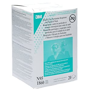 3M 1860 N95 RESPIRATOR AND SURGICAL MASK Box of 20