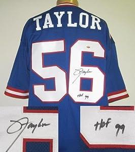 Lawrence Taylor Autographed Signed New York Giants Custom NFL Jersey HOF 90 by Radtke Sports