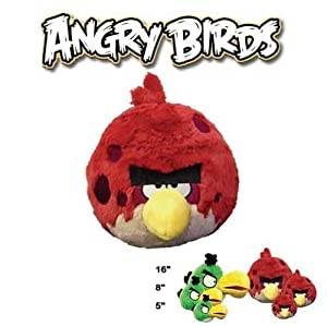 Angry birds plush 8 inch big brother bird with sound toys games - Angry birds big brother plush ...