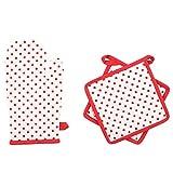 Iris Innovations Red 1Oven Gloves,2Pot Holder