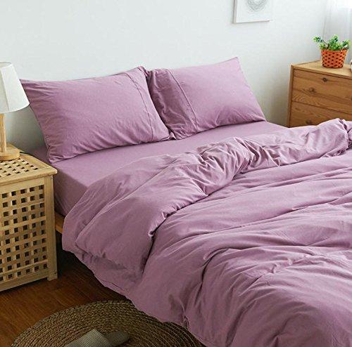 Habe Inde Coton tricoté quatre ensemble, literie, tessili per la casa , de couleur pourpre , Letto Queen Size