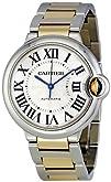 Cartier Mens W6920047 Ballon Bleu Steel and 18kt Gold Watch