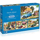 Gibsons Out and About Jigsaw Puzzles (4 x 500 Pieces)