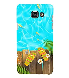 POOLSIDE DEPICTING SUMMERTIME ENJOYMENT 3D Hard Polycarbonate Designer Back Case Cover for Samsung Galaxy A5 (2016) :: Samsung Galaxy A5 A510F (2016) A510M A510FD A510Y