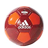adidas Performance MUFC Soccer Ball, 5, Solar Red/Scarlet/Black/White, 5/Solar Red/Scarlet/Black/White