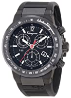Salvatore Ferragamo Men's F55LCQ6809 S113 F-80 Chronograph Tachymeter Black IP Watch by Salvatore Ferragamo