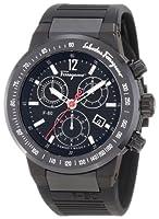Salvatore Ferragamo Men's F55LCQ6809 S113 F-80 Chronograph Tachymeter Black IP Watch by Salvatore Ferragamo