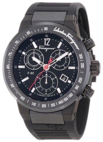 Ferragamo Men's F55LCQ6809 S113 F-80 Chronograph Tachymeter Black IP Watch