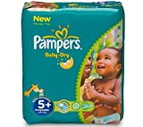 PAMPERS Baby-Dry Nappies Size 5 (13-27 kg) - economic pack of 132 nappies