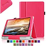 Fintie Lenovo Yoga 10 / Yoga 10 HD+ Folio Case - Premium PU Leather Cover With Stylus Holder (For Yoga Tablet 10.1-Inch / Yoga Tablet 10.1-Inch HD+) - Magenta