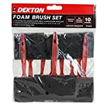 10Pc Foam Brush Brush Set contains 10 foam brushes in a range of sizes Pack include 4 x 1 25mm 3 x 2 50mm 2 x 3 75mm 1 x 4 100mm even application of wood stains dyes paints and varnishes
