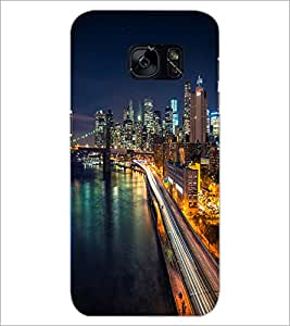 PrintDhaba Maine Drive D-2036 Back Case Cover for SAMSUNG GALAXY S7 (Multi-Coloured)