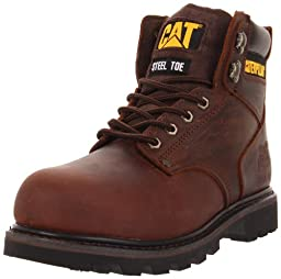 Caterpillar Men\'s Second Shift ST Work Boot,Dark Brown,11.5 M US