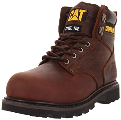 Caterpillar Men's Second Shift ST Work Boot,Dark Brown,7 M US