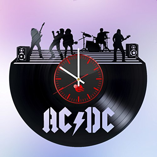 ACDC-ROCK-BAND-HANDMADE-Vinyl-Record-Wall-Clock-Get-unique-home-wall-decor-Gift-ideas-for-sister-and-brother-Rock-Music-Unique-Art-Leave-us-a-feedback-and-win-your-custom-clock