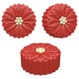 Poinsettia Cookie Mould 6 per pack