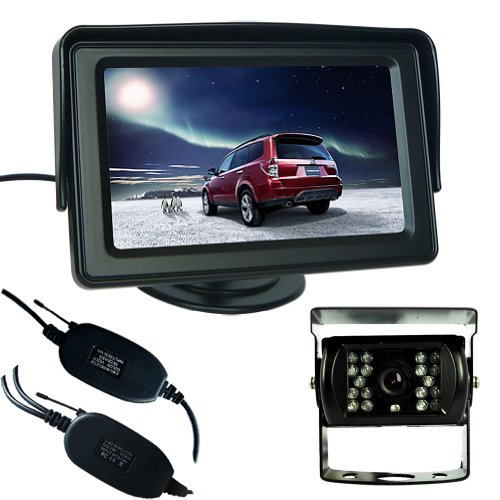"Buyee 4.3"" Lcd Tft Monitor + Wireless Car Bus Rear View Reversing System Ccd Camera Parking Kit"
